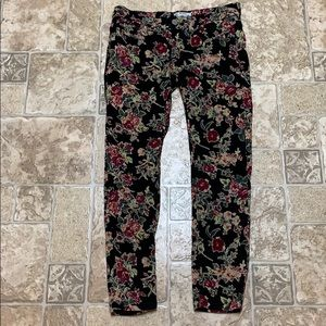Free People floral corduroy jeans